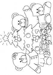 plansa de colorat animale ursuleti de colorat p15