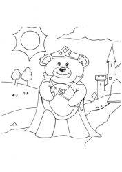 plansa de colorat animale ursuleti de colorat p19