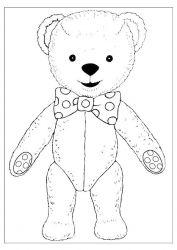 plansa de colorat animale ursuleti de colorat p23