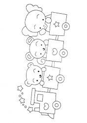 plansa de colorat animale ursuleti de colorat p24