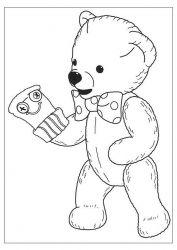plansa de colorat animale ursuleti de colorat p26