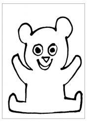 plansa de colorat animale ursuleti de colorat p33
