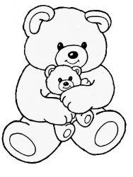 plansa de colorat animale ursuleti de colorat p35