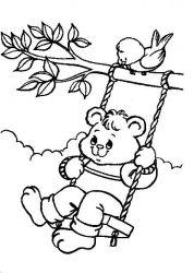 plansa de colorat animale ursuleti de colorat p36