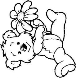 plansa de colorat animale ursuleti de colorat p42