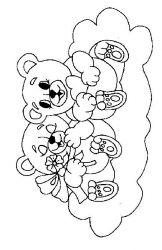 plansa de colorat animale ursuleti de colorat p46