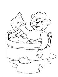 plansa de colorat animale ursuleti de colorat p48