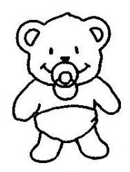 plansa de colorat animale ursuleti de colorat p55
