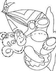 plansa de colorat animale ursuleti de colorat p56