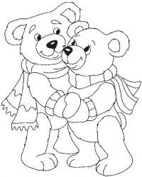plansa de colorat animale ursuleti de colorat p58