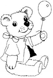 plansa de colorat animale ursuleti de colorat p60