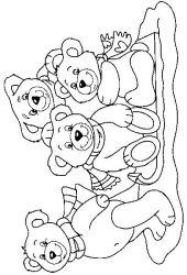 plansa de colorat animale ursuleti de colorat p63