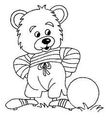 plansa de colorat animale ursuleti de colorat p65