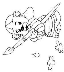 plansa de colorat animale ursuleti de colorat p67