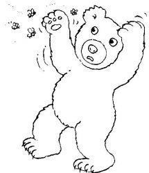 plansa de colorat animale ursuleti de colorat p71