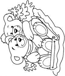 plansa de colorat animale ursuleti de colorat p73