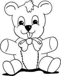 plansa de colorat animale ursuleti de colorat p74