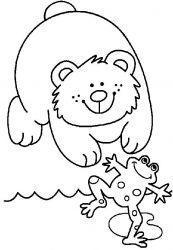 plansa de colorat animale ursuleti de colorat p75