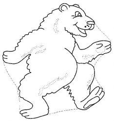 plansa de colorat animale ursuleti de colorat p77