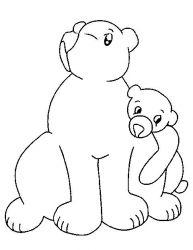 plansa de colorat animale ursuleti de colorat p79