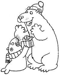 plansa de colorat animale ursuleti de colorat p80