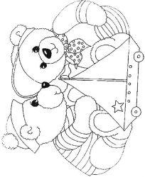 plansa de colorat animale ursuleti de colorat p81
