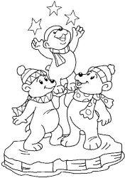 plansa de colorat animale ursuleti de colorat p85