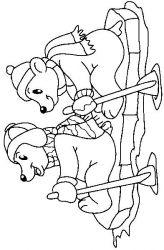 plansa de colorat animale ursuleti de colorat p86