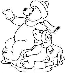 plansa de colorat animale ursuleti de colorat p88