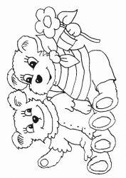 plansa de colorat animale ursuleti de colorat p91