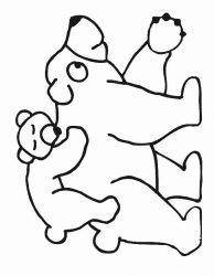 plansa de colorat animale ursuleti de colorat p92