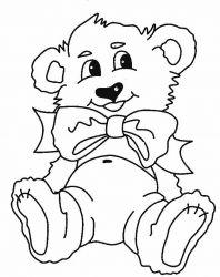 plansa de colorat animale ursuleti de colorat p95