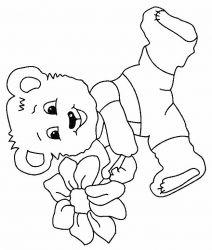 plansa de colorat animale ursuleti de colorat p97