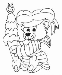 plansa de colorat animale ursuleti de colorat p99