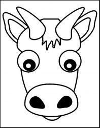 plansa de colorat animale vaci de colorat p05