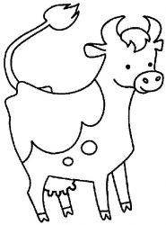 plansa de colorat animale vaci de colorat p08