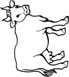 plansa de colorat animale vaci de colorat p09