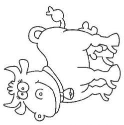 plansa de colorat animale vaci de colorat p17