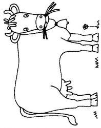 plansa de colorat animale vaci de colorat p19