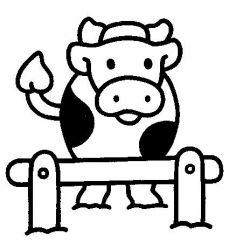 plansa de colorat animale vaci de colorat p21