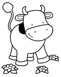 plansa de colorat animale vaci de colorat p23