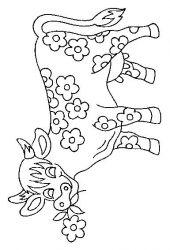 plansa de colorat animale vaci de colorat p33
