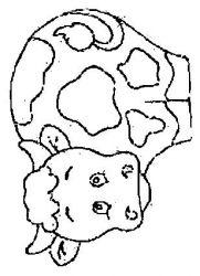 plansa de colorat animale vaci de colorat p40