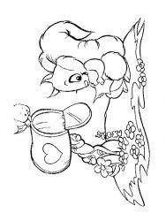 plansa de colorat animale veverite de colorat p08