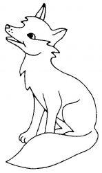 plansa de colorat animale vulpi de colorat p02
