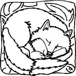 plansa de colorat animale vulpi de colorat p05
