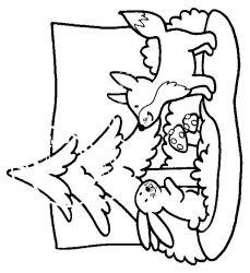 plansa de colorat animale vulpi de colorat p06