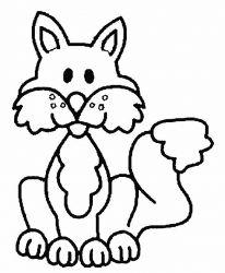 plansa de colorat animale vulpi de colorat p09