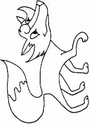 plansa de colorat animale vulpi de colorat p17