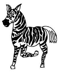 plansa de colorat animale zebre de colorat p02